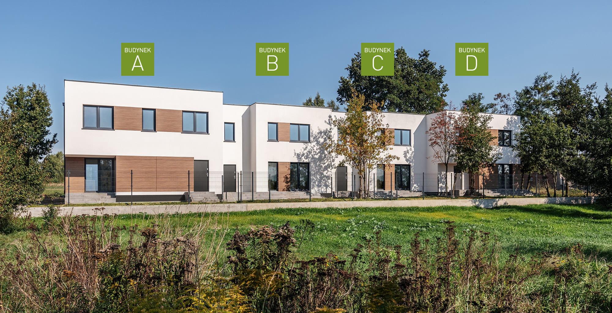 Zielony Krzewnik - podział domów