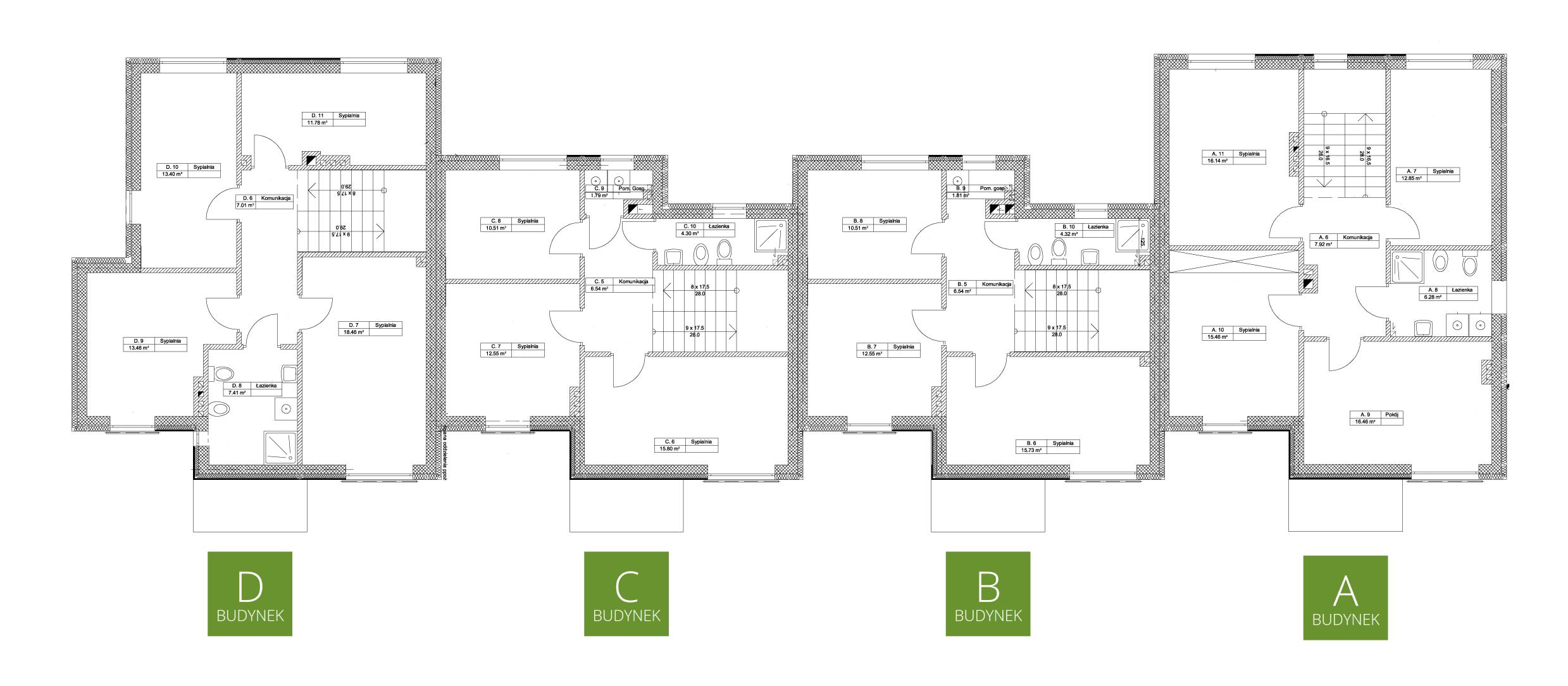 Zielony Krzewnik - rzut piętro
