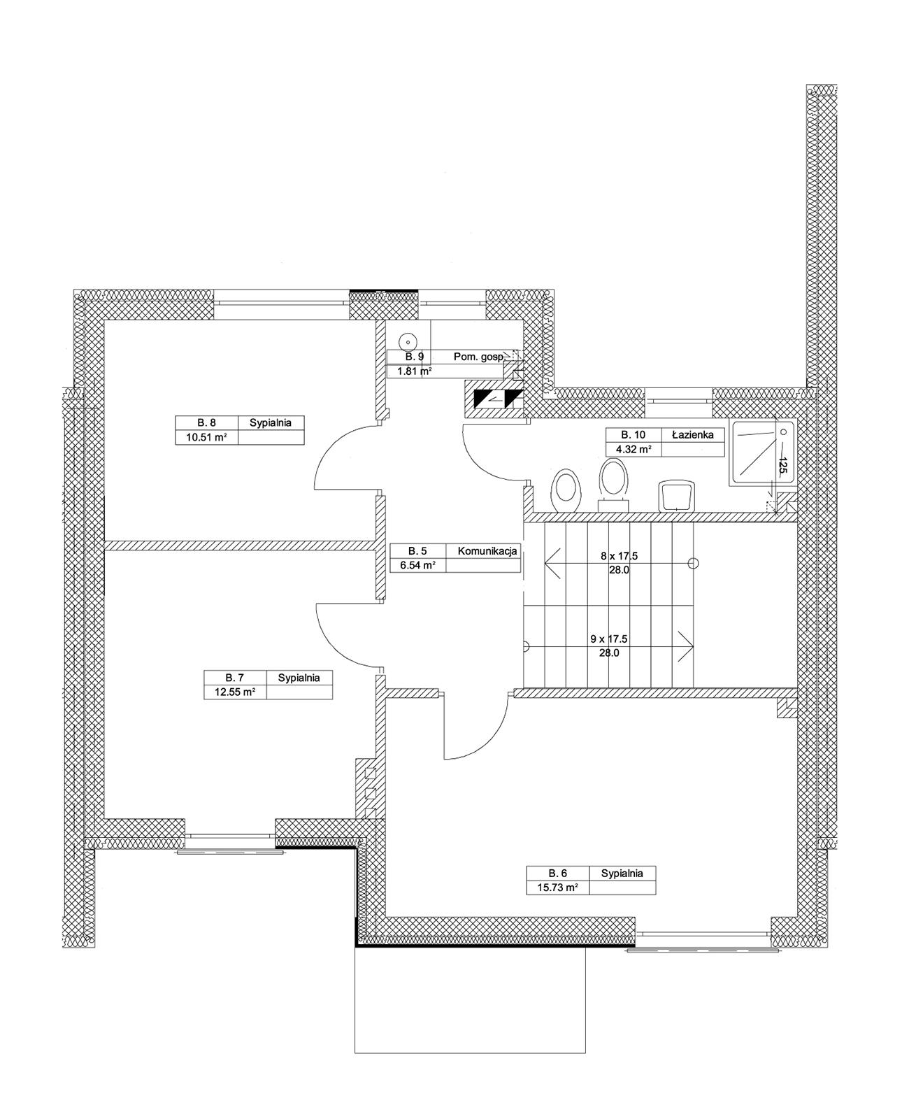 Zielony Krzewnik - budynek B piętro