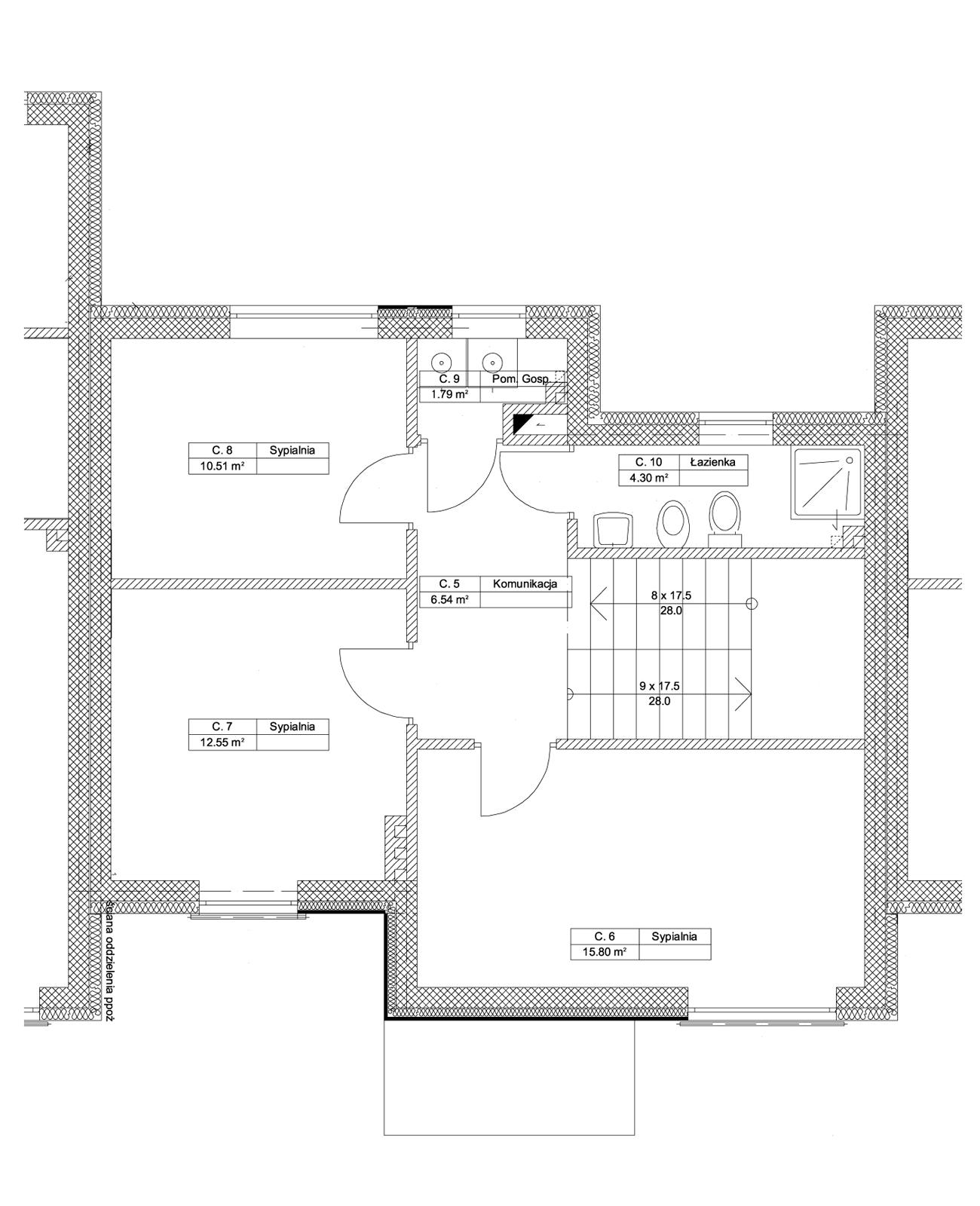 Zielony Krzewnik - budynek C piętro